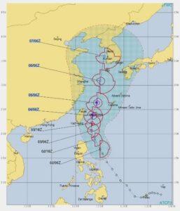台風13号,進路予想