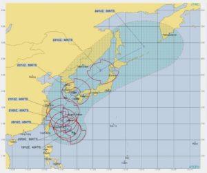 台風17号,進路予想