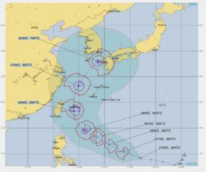 台風18号,進路予想