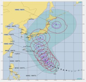 台風19号,進路予想2