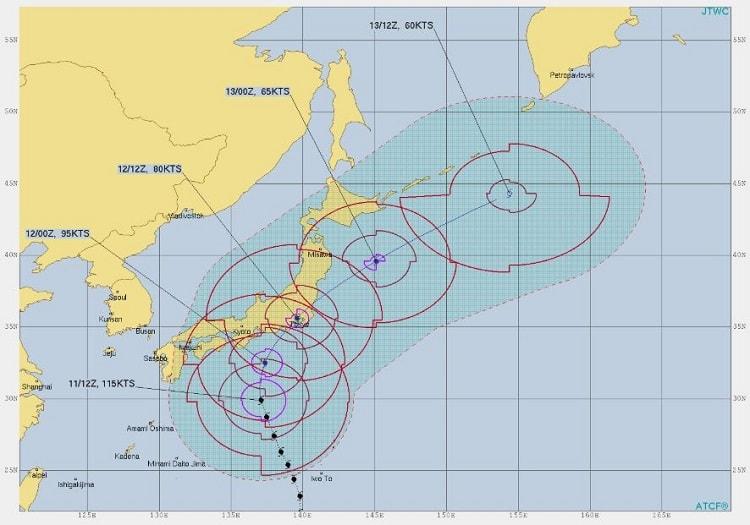 台風19号,進路予想4