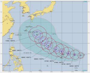 台風19号,進路予想