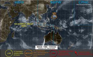 台風20号,15日現在