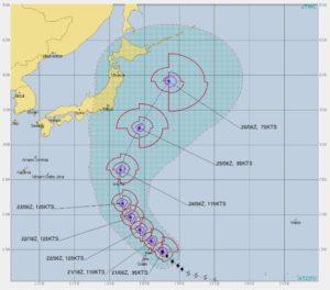 台風21号,進路予想2