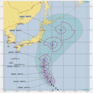 台風21号,進路予想3