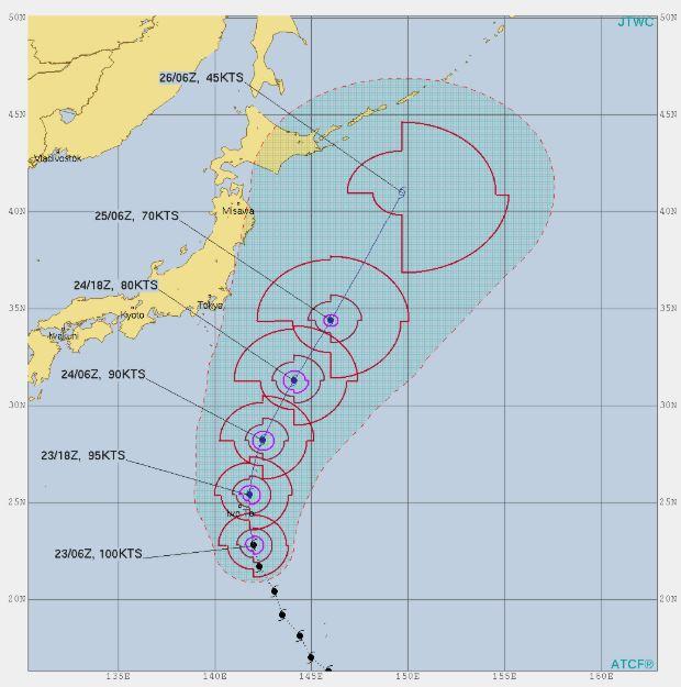 台風21号,進路予想4