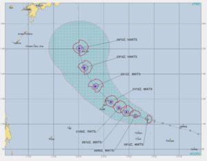 台風21号,進路予想